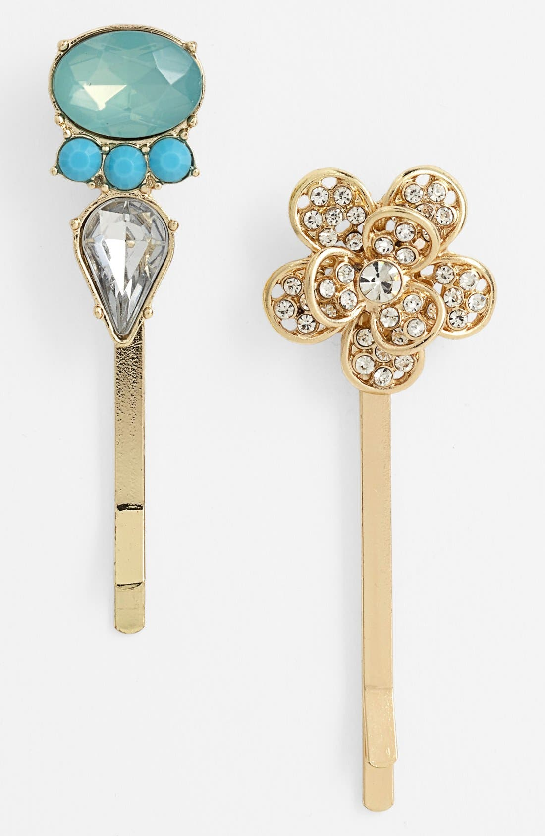 Alternate Image 1 Selected - Berry 'Flowers' Bobby Pins (Set of 2)