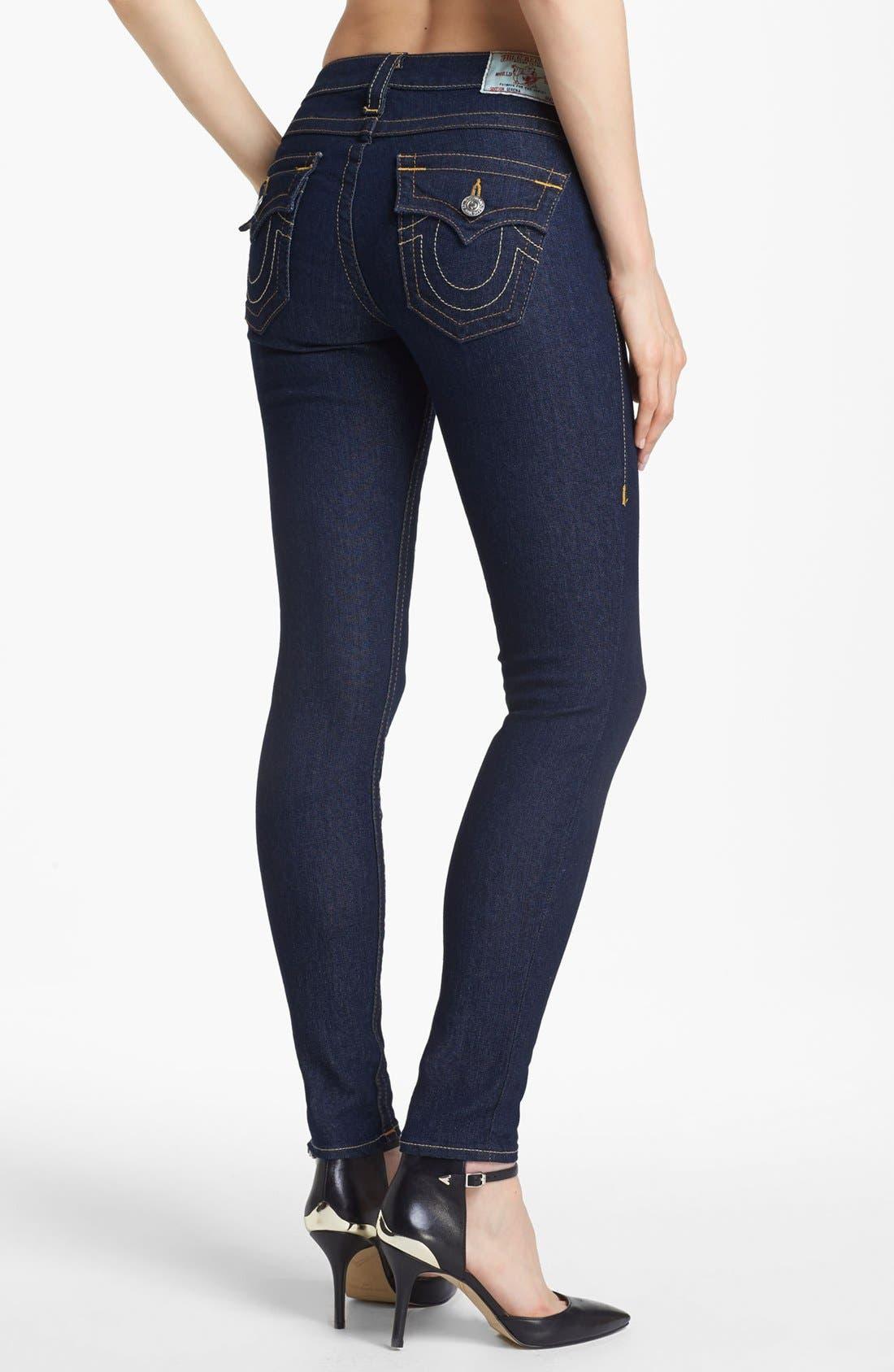 Alternate Image 2  - True Religion Brand Jeans 'Serena' Denim Leggings (Body Rinse) (Online Only)