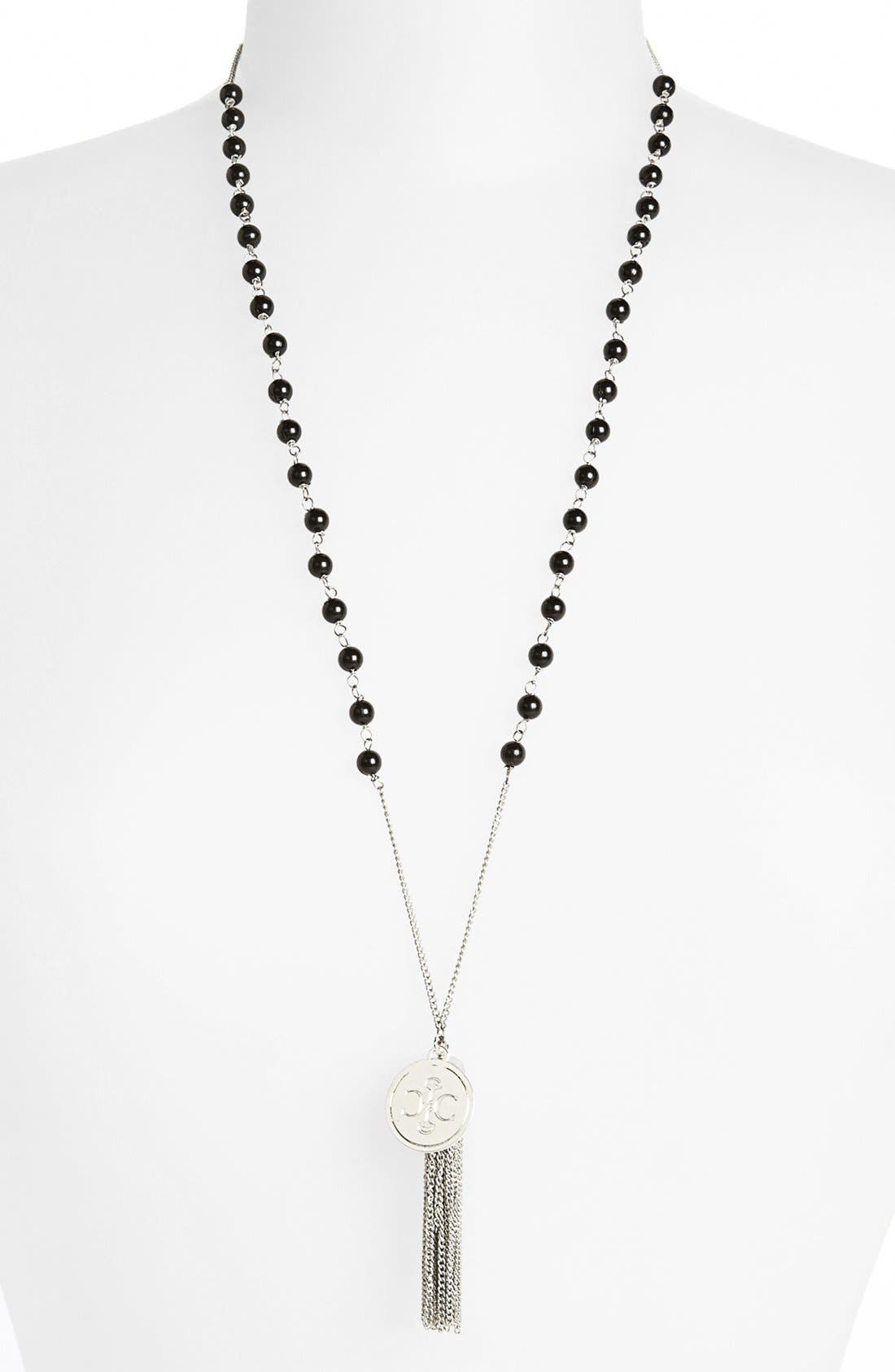 Main Image - Carbon Copy 'Tassel Beads' Necklace