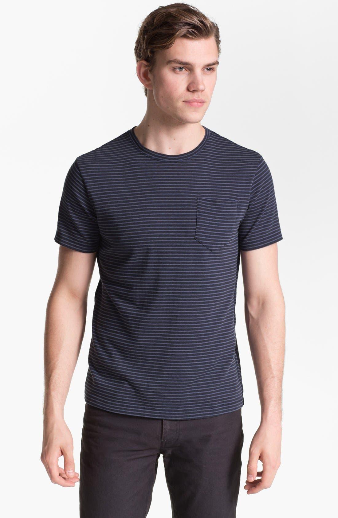 Alternate Image 1 Selected - Steven Alan Stripe Print Pocket T-Shirt