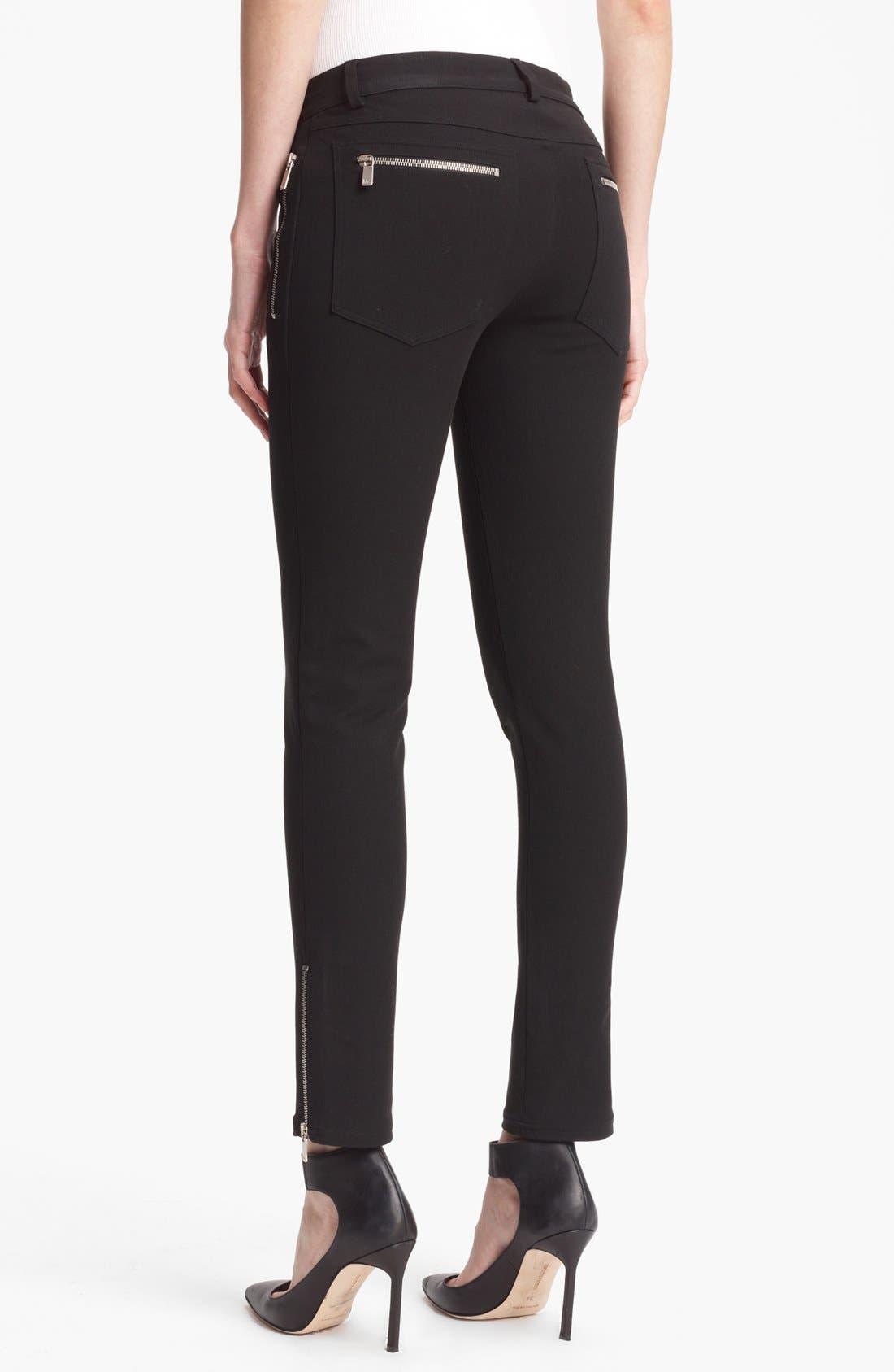 Alternate Image 2  - Michael Kors Skinny Techno Twill Pants