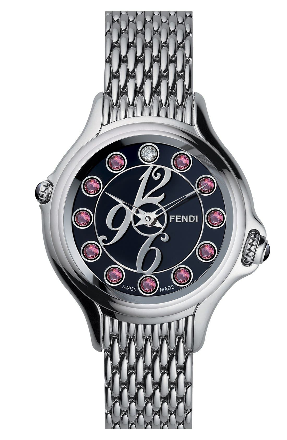 Alternate Image 3  - Fendi 'Crazy Carats' Black Dial Bracelet Watch, 38mm