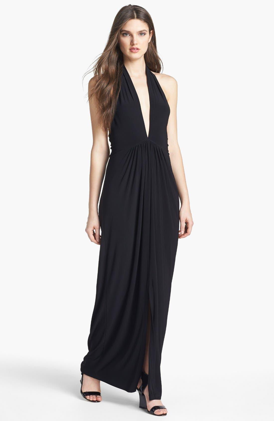 Main Image - KAMALIKULTURE V-Neck Halter Jersey Dress