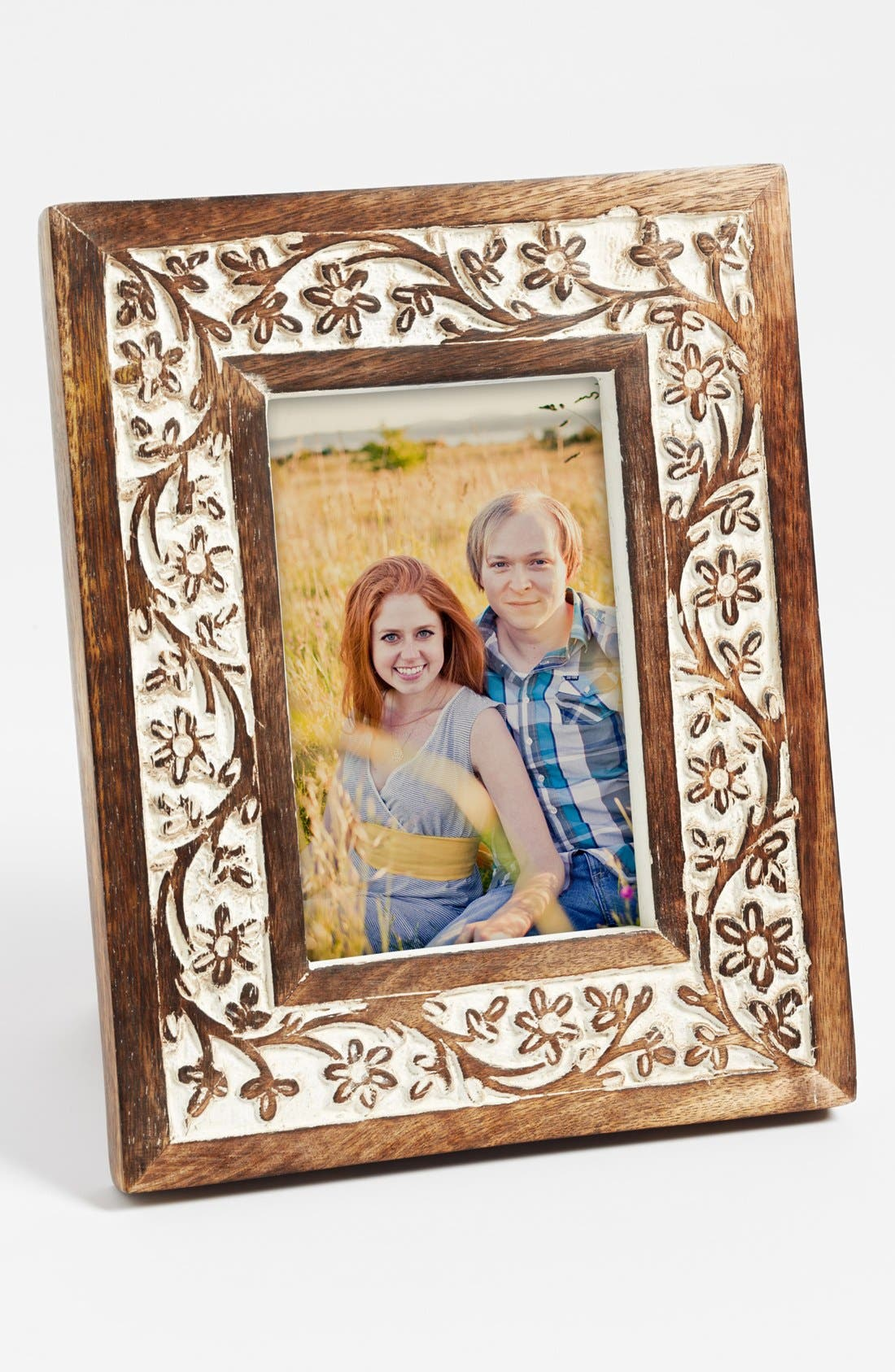 Main Image - Carved Wood Picture Frame (4x6)