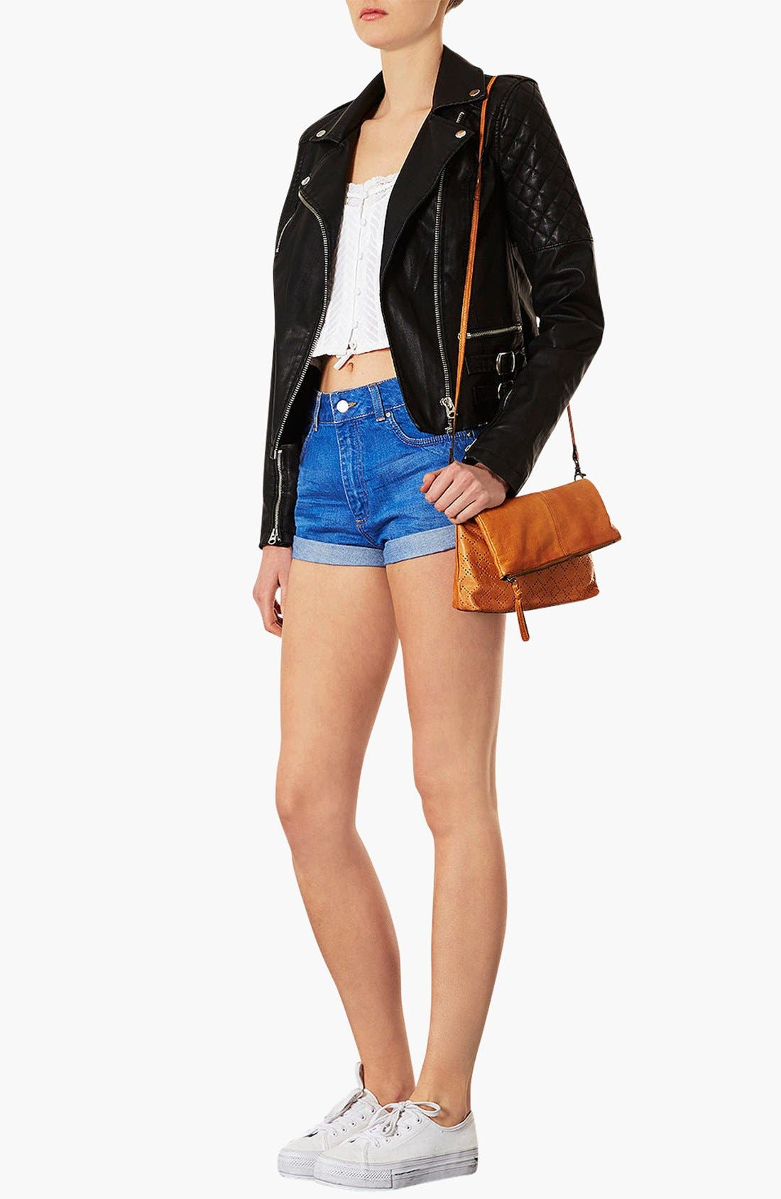 Alternate Image 2  - Topshop 'New Perforated' Leather Crossbody Bag
