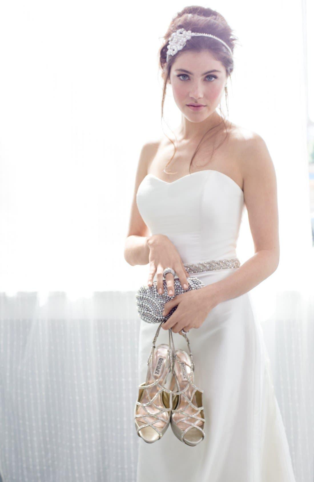 Alternate Image 2  - Nina Crystal 'Kennedy' Crystal Braided Organza Sash