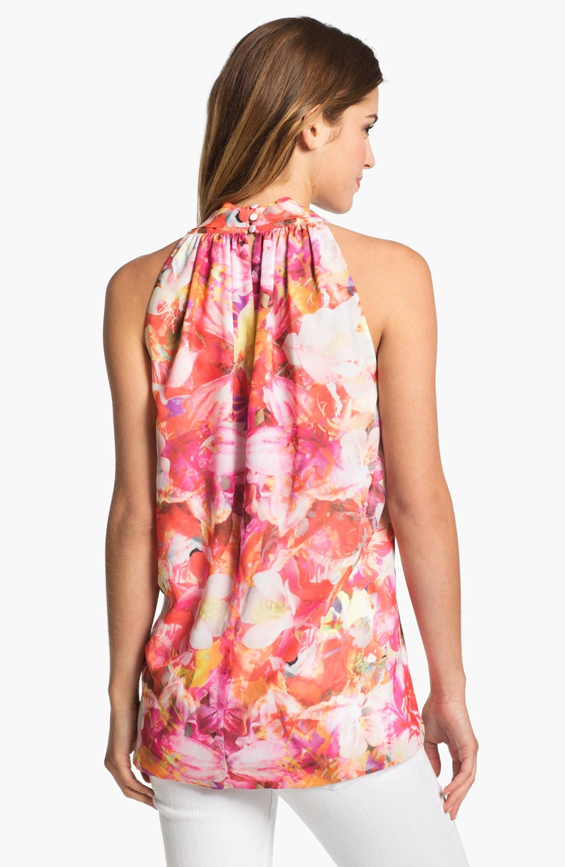 Alternate Image 2  - Vince Camuto 'Corsage Floral' Sleeveless Blouse (Petite)