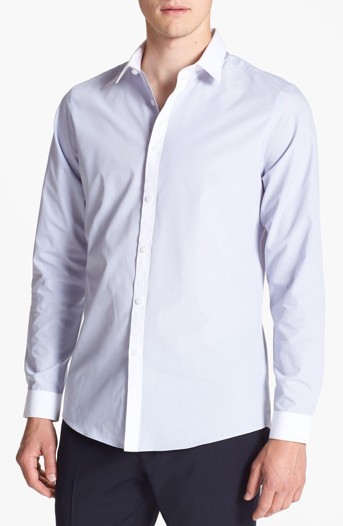 Alternate Image 1 Selected - Topman Contrast Trim Shirt