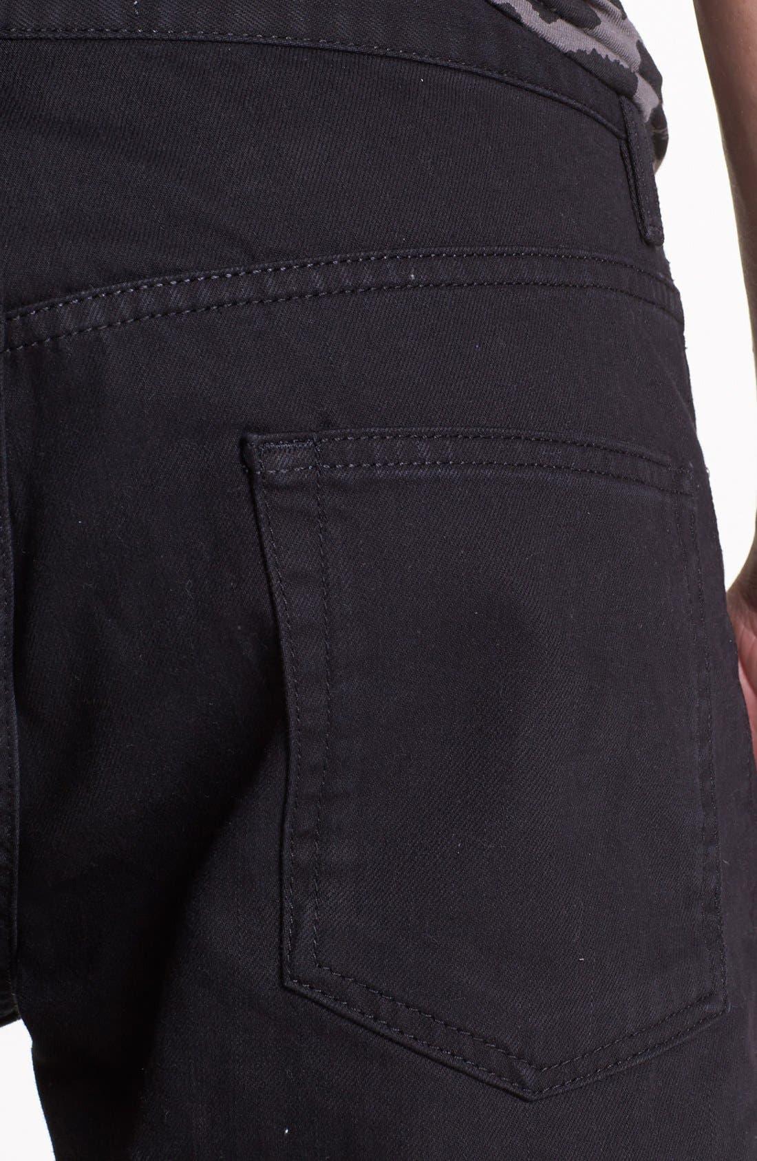 Alternate Image 4  - Topman Slim Fit Jeans (Black)