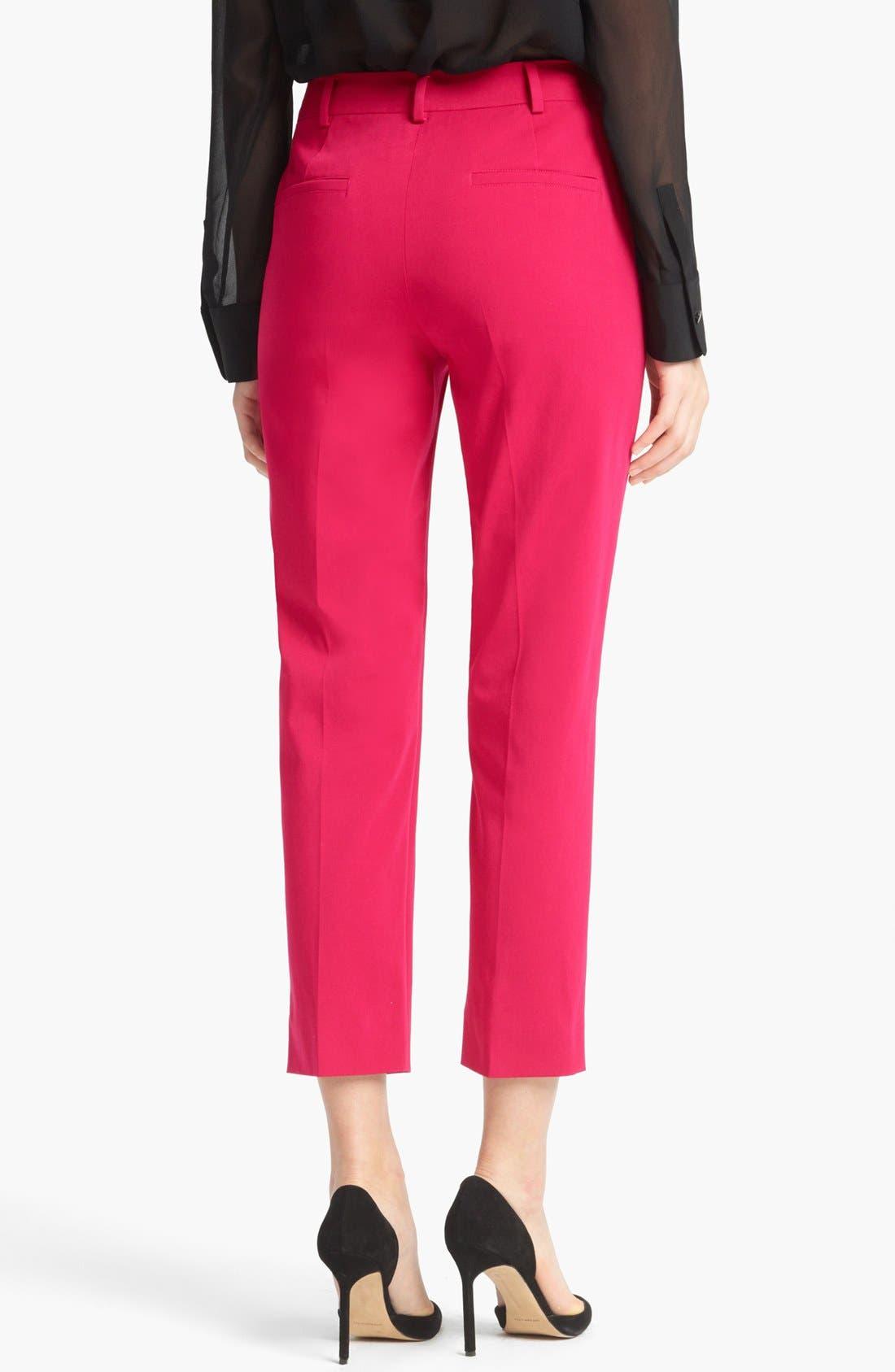 Alternate Image 2  - Max Mara 'Genova' Stretch Cotton Crop Pants