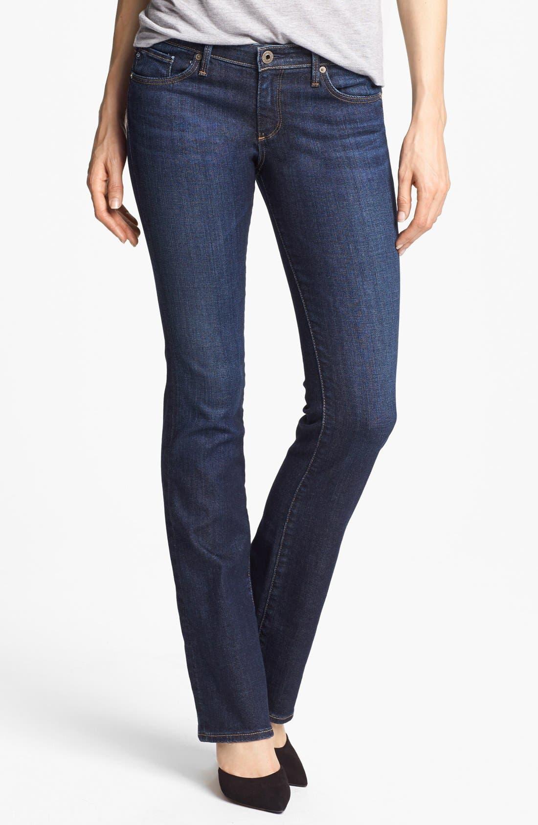 Alternate Image 1 Selected - AG 'Olivia' Skinny Bootcut Jeans (Crest Blue)