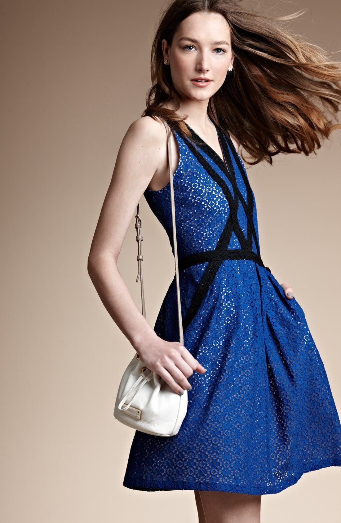 Alternate Image 6  - MARC BY MARC JACOBS 'Collage' Lace Fit & Flare Dress