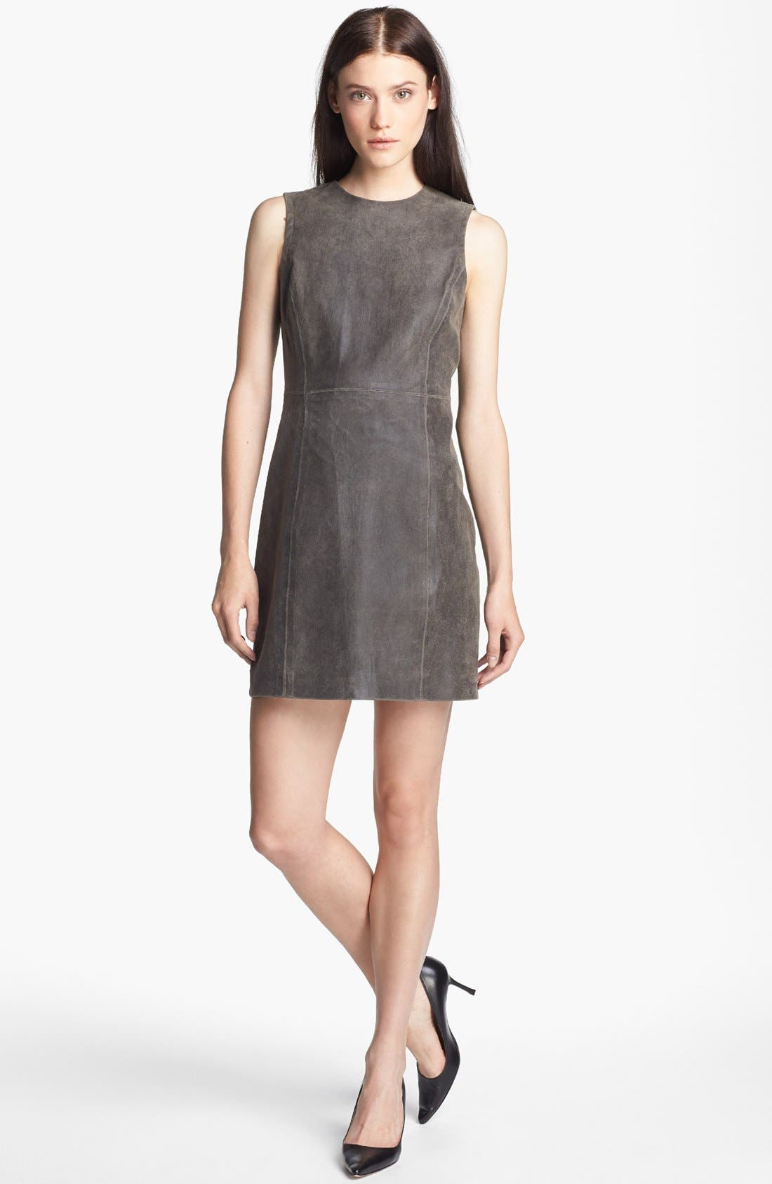 Alternate Image 1 Selected - Theyskens' Theory 'Ducka Nico' Leather Shift Dress