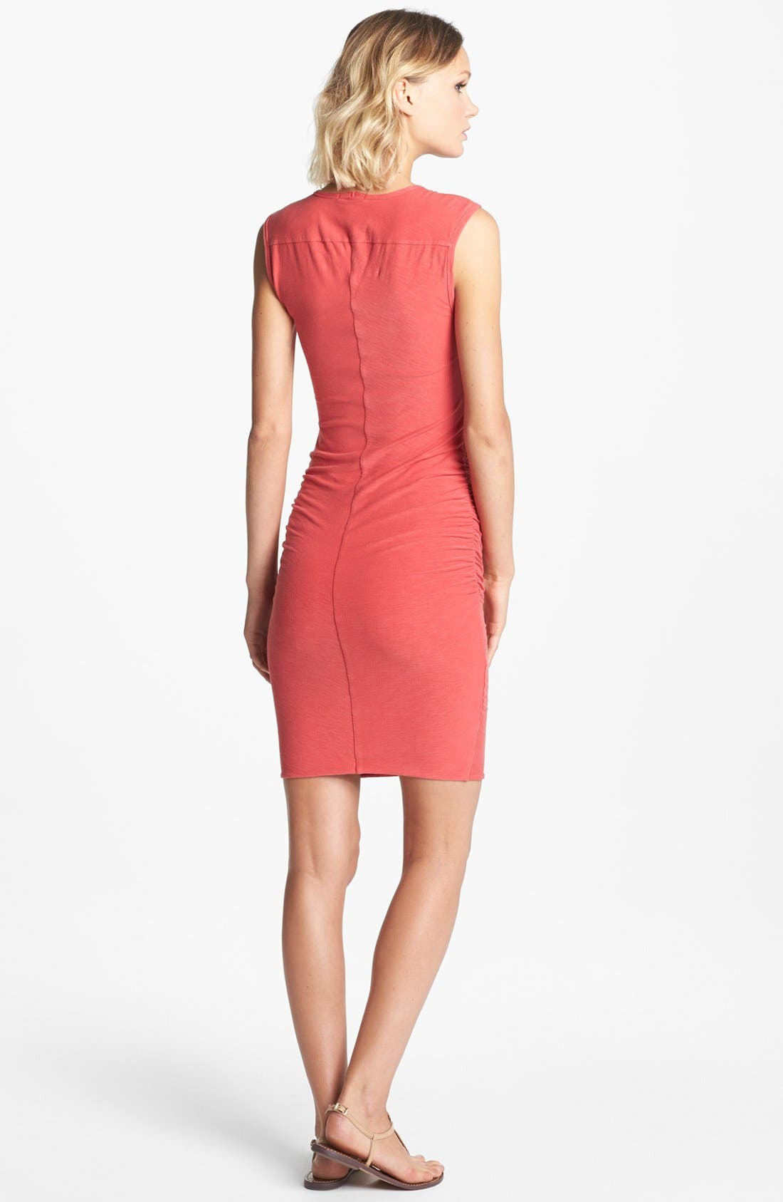 Alternate Image 2  - James Perse Ruched Wide Strap Dress