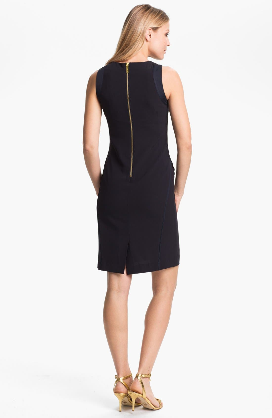 Alternate Image 2  - MICHAEL Michael Kors Embellished Neck Sleeveless Dress (Petite)
