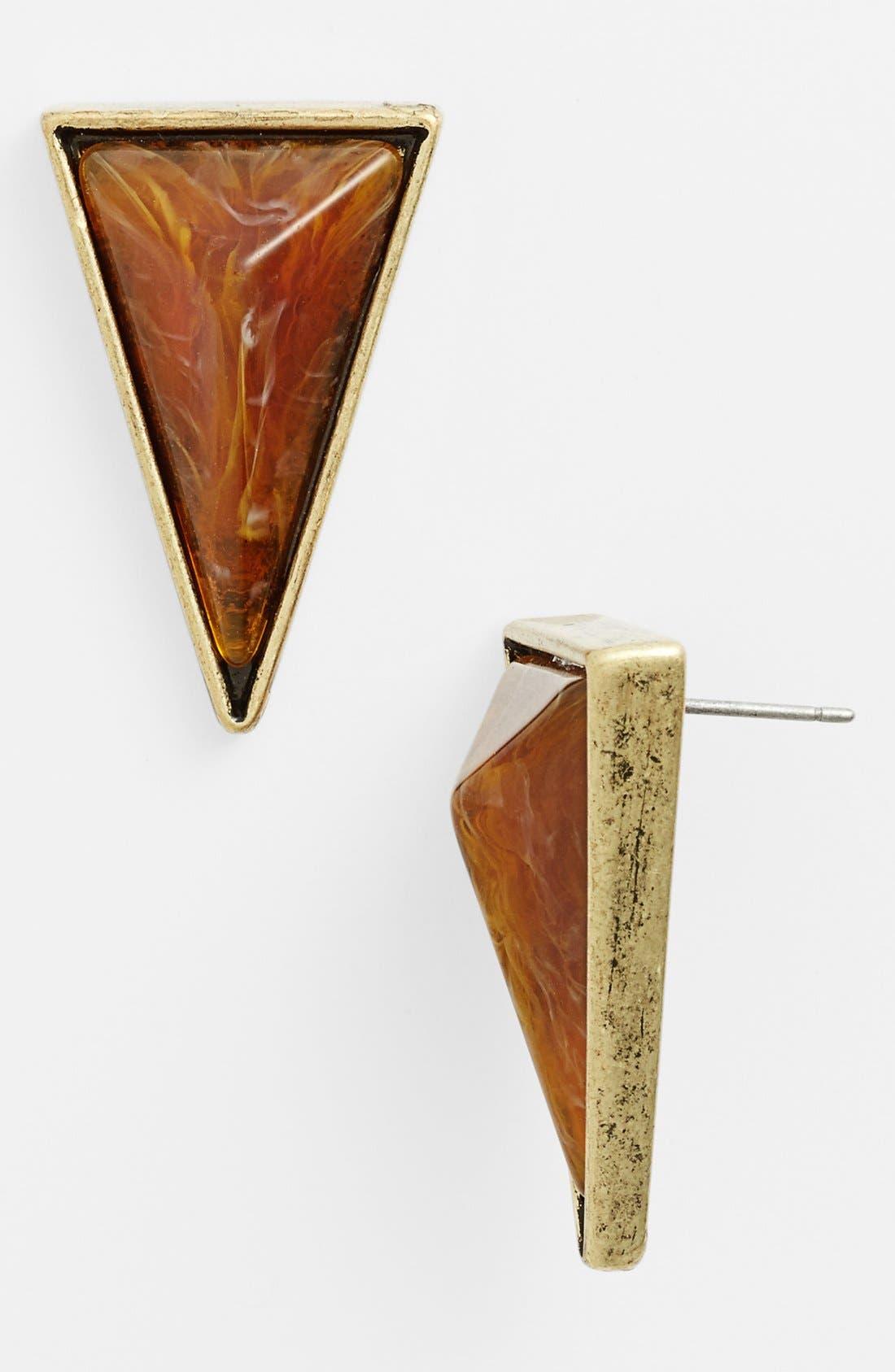 Main Image - Robert Rose 'Close to Nature' Triangle Stud Earrings
