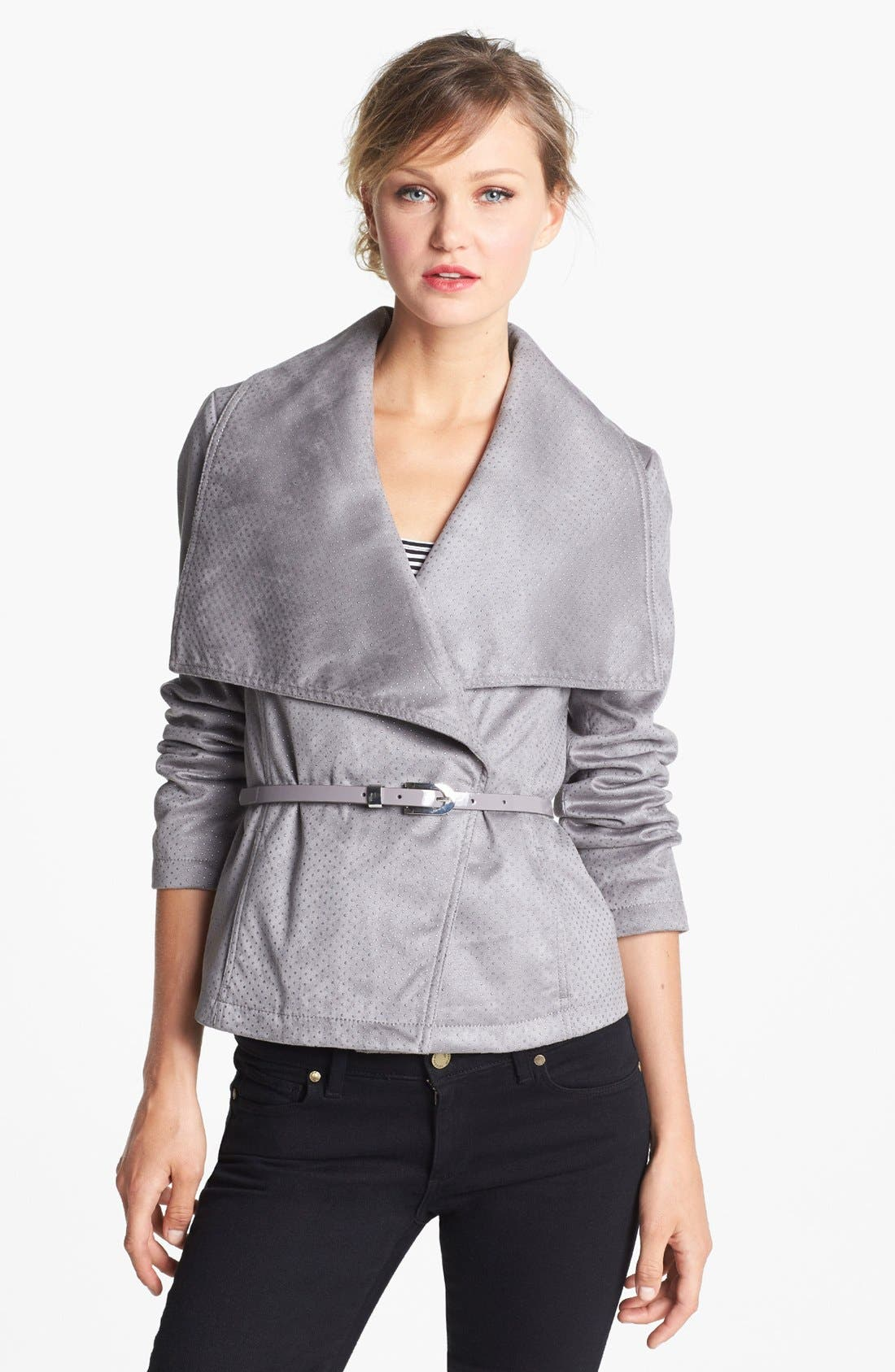 Alternate Image 2  - Kenneth Cole New York Studded Asymmetrical Faux Leather Jacket (Online Only)