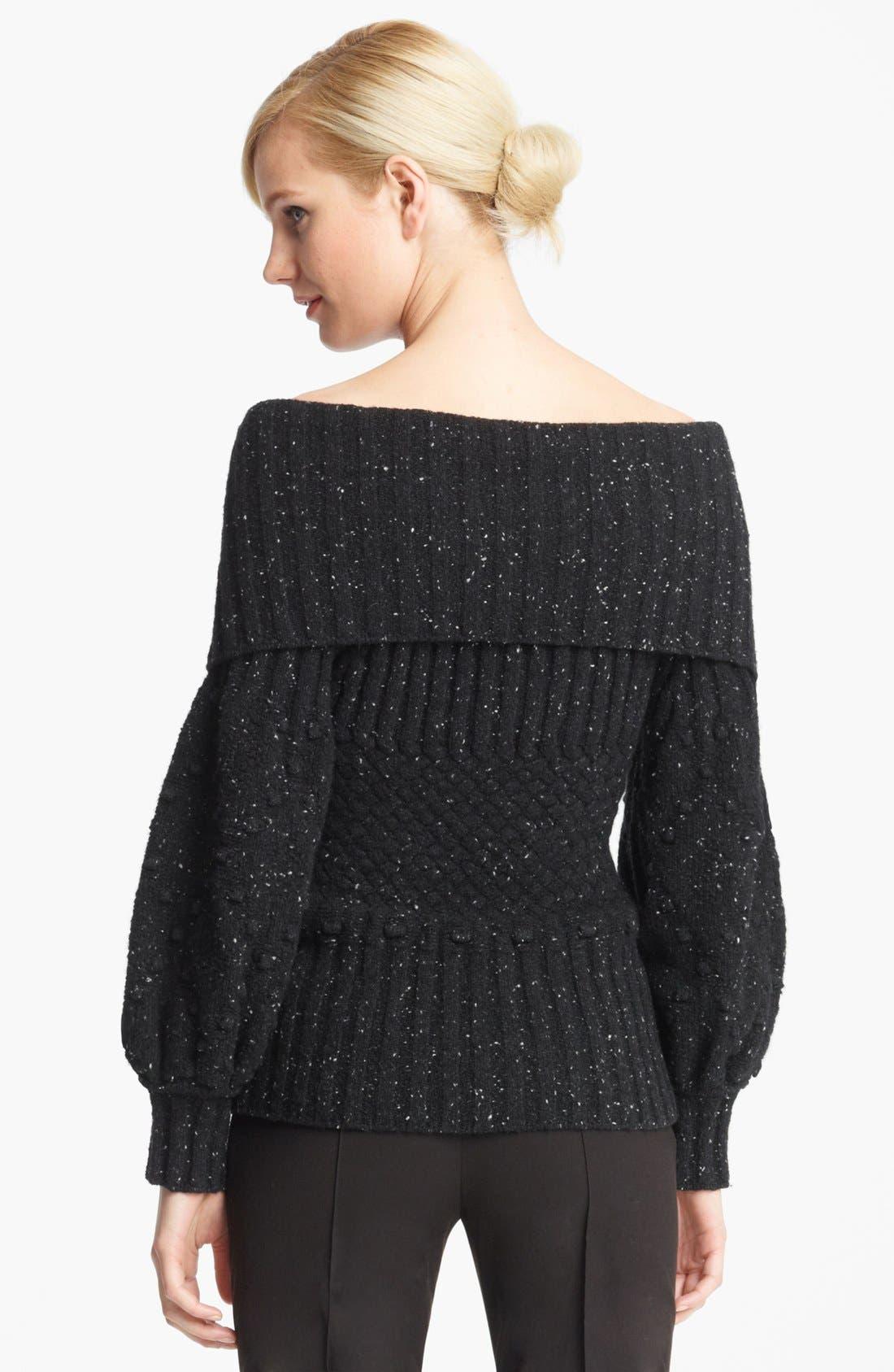 Alternate Image 2  - Oscar de la Renta Ribbed Sweater