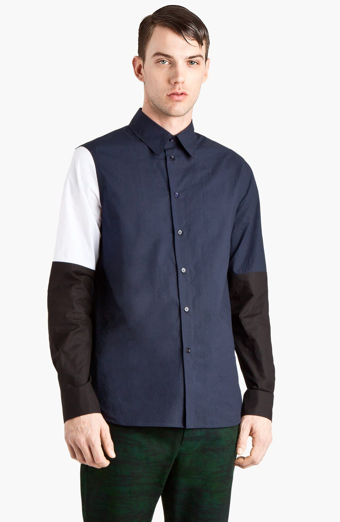 Alternate Image 1 Selected - Marni Colorblock Woven Shirt