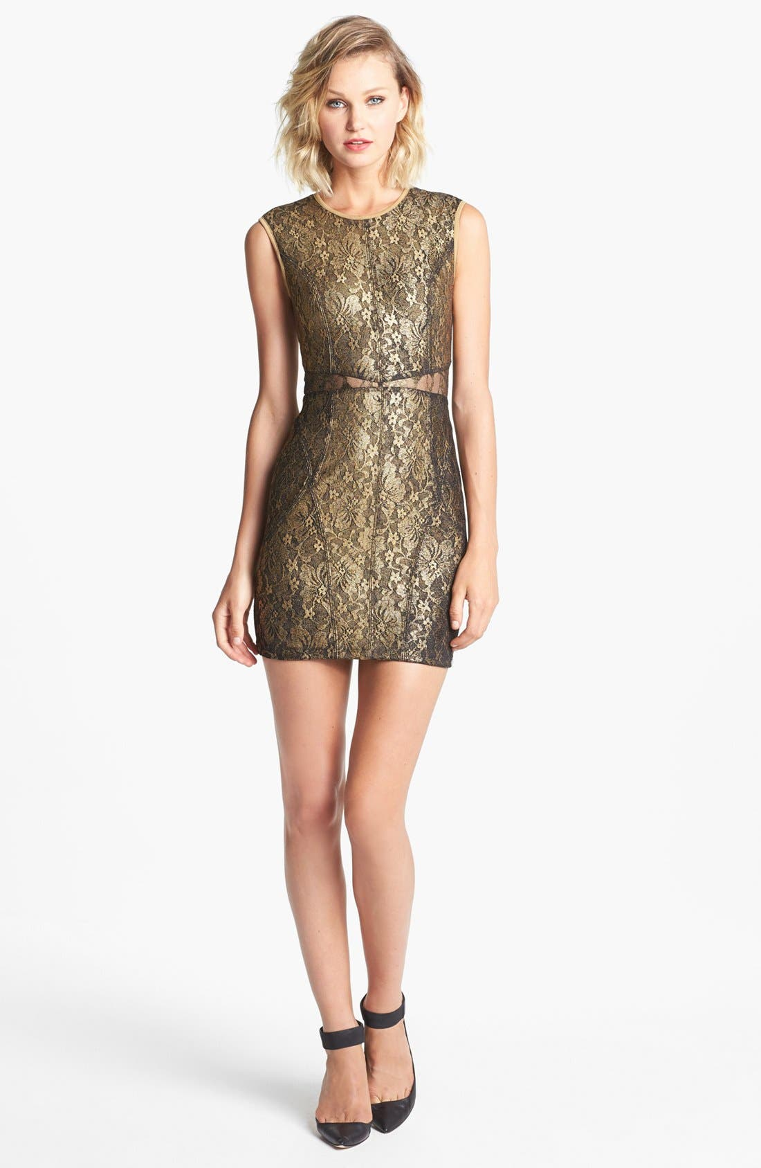 Alternate Image 1 Selected - Keepsake the label 'Stand by Me' Lace Body-Con Dress