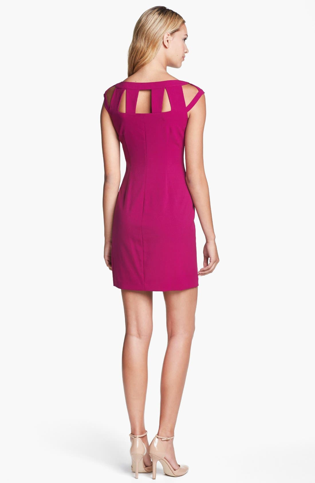 Alternate Image 2  - Marc New York by Andrew Marc Cutout Cap Sleeve Sheath Dress
