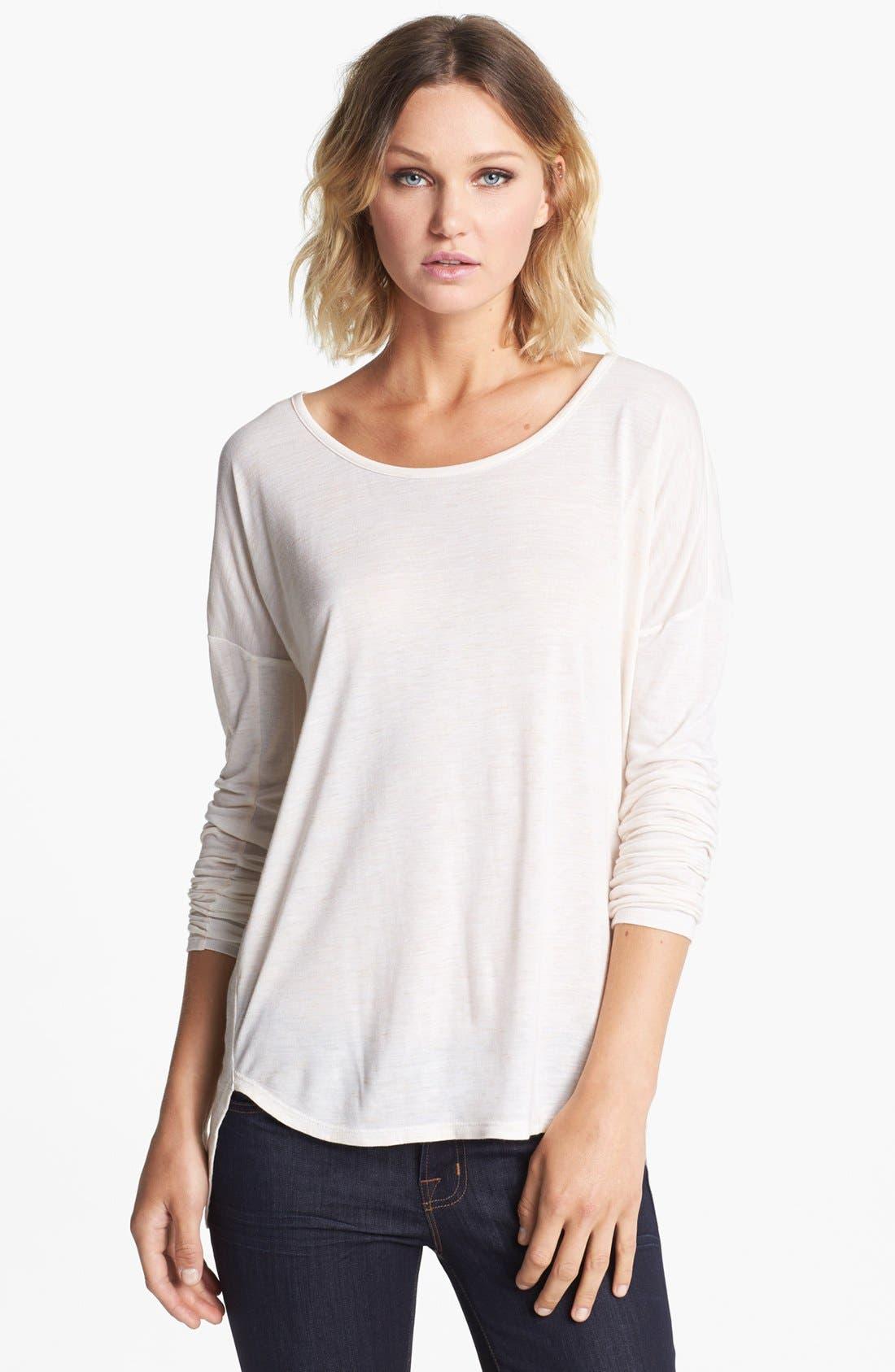 Main Image - Trouvé Heathered Long Sleeve Shirt