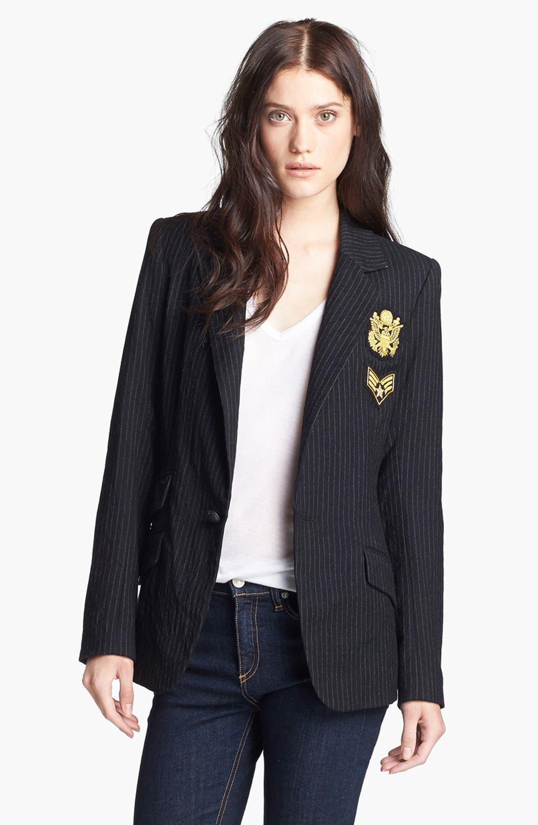 Alternate Image 1 Selected - Laveer 'Revelry' Elbow Patch Single Breasted Blazer