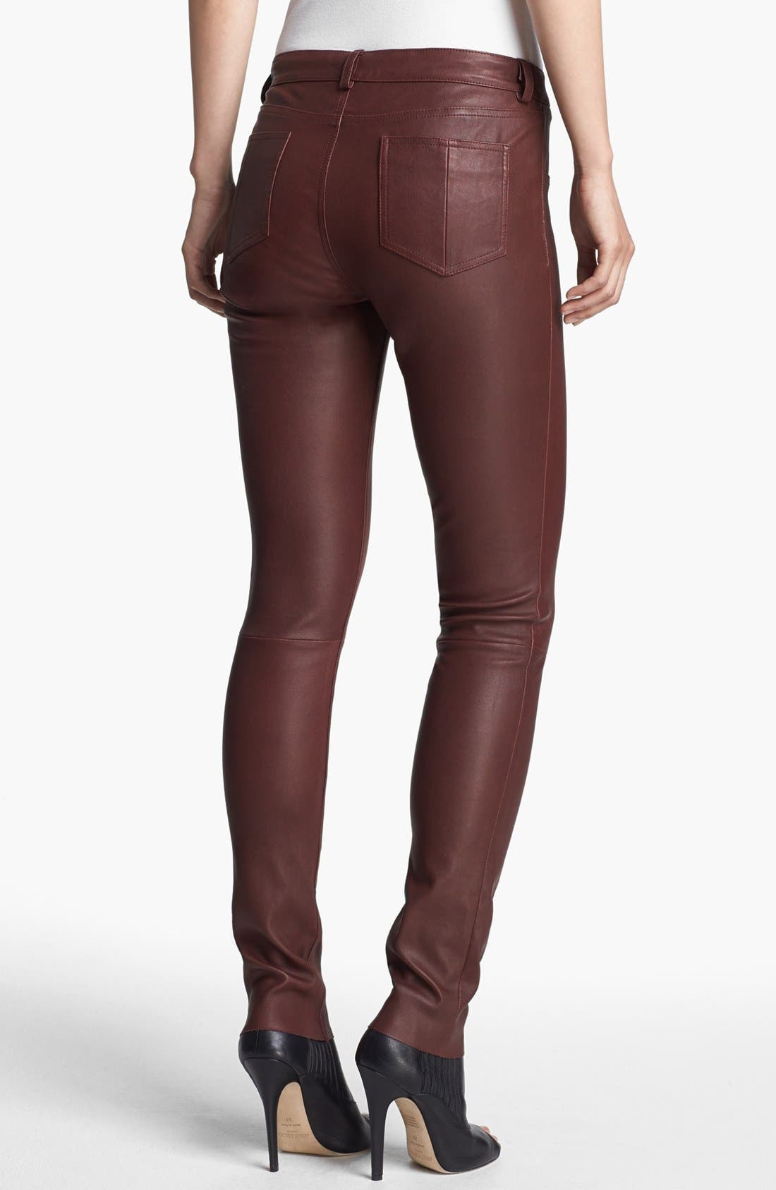 Alternate Image 2  - Haute Hippie Skinny Leather Pants