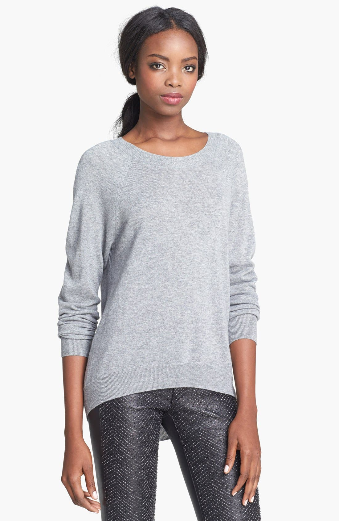 Alternate Image 1 Selected - autumn cashmere Elbow Patch Cashmere Sweater