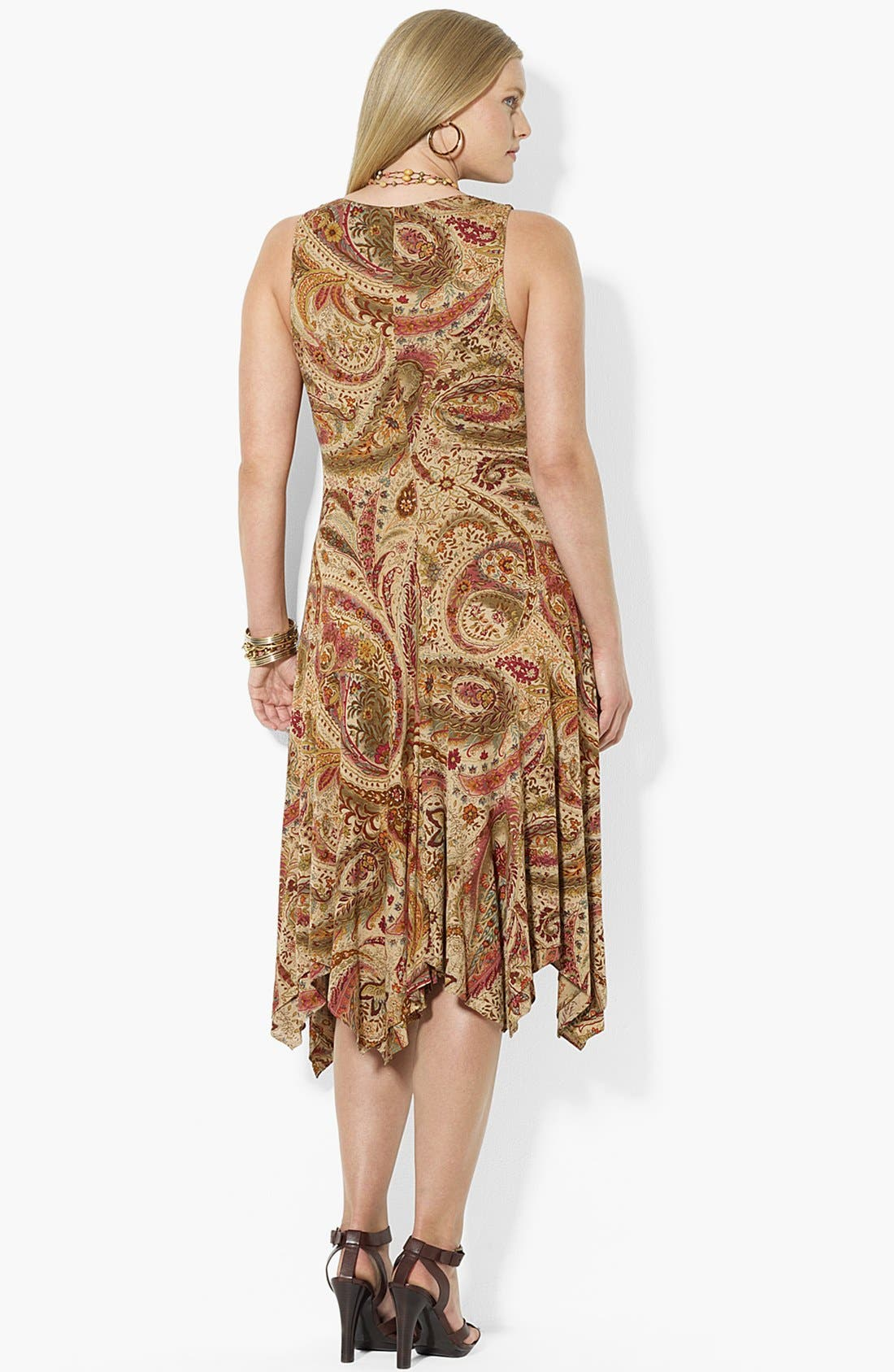 Alternate Image 2  - Lauren Ralph Lauren Print Jersey Dress (Plus Size)