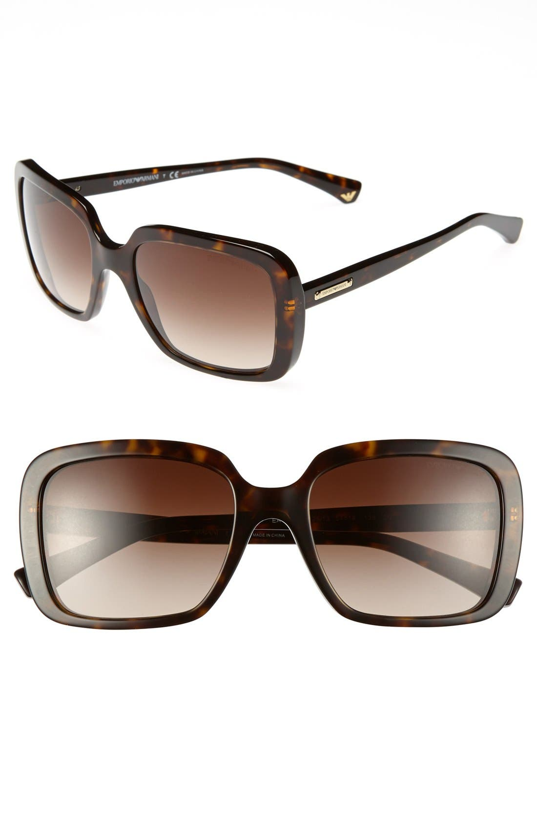 Alternate Image 1 Selected - Emporio Armani 54mm Sunglasses