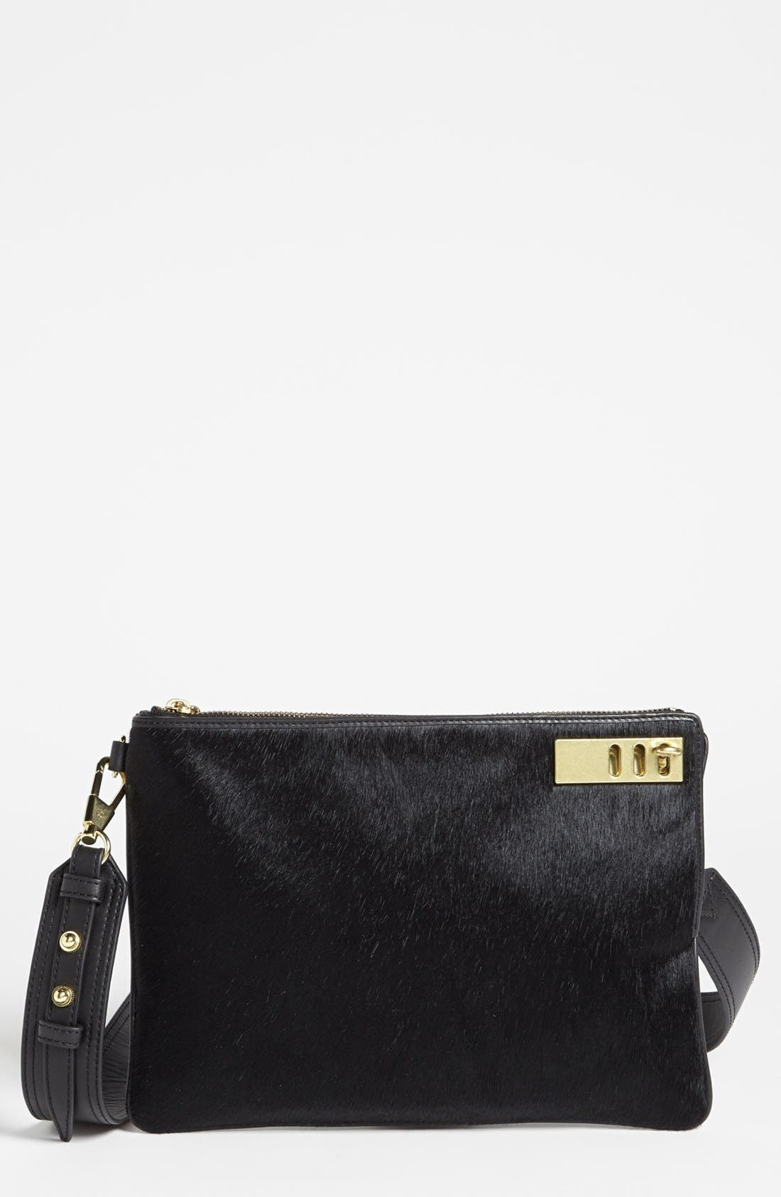 Alternate Image 1 Selected - 3.1 Phillip Lim 'Racer' Calf Hair & Leather Clutch