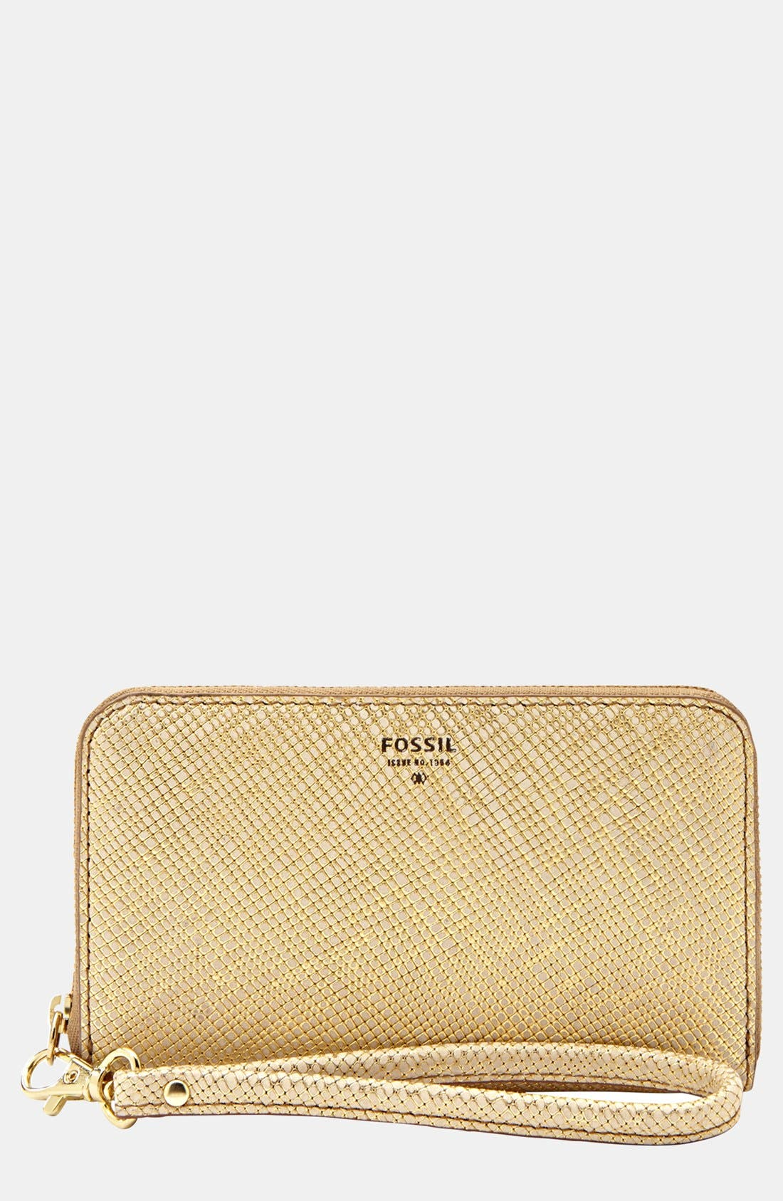 Alternate Image 1 Selected - Fossil 'Sydney' Zip Phone Wallet