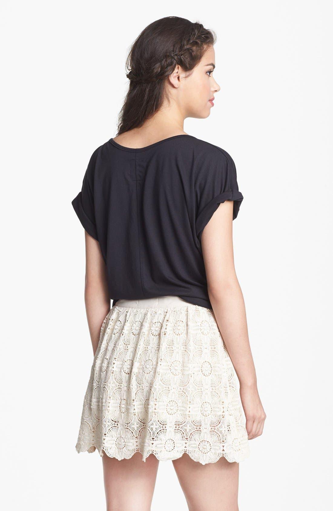 Alternate Image 2  - Blu Pepper Crochet Skirt (Juniors)