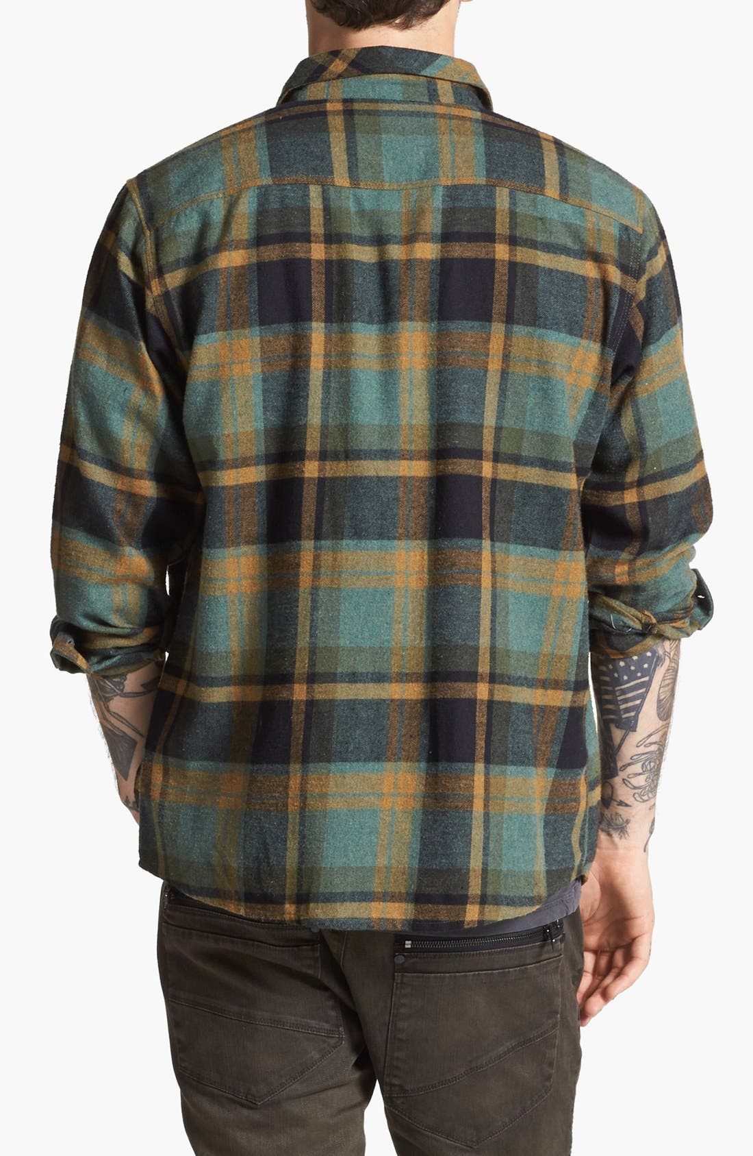 Alternate Image 3  - Brixton 'Bowery' Plaid Flannel Shirt