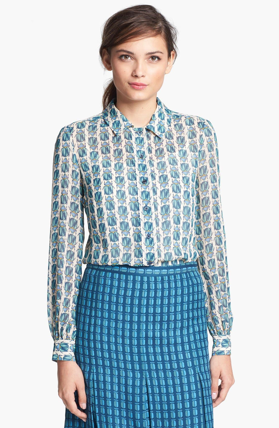 Alternate Image 1 Selected - Tory Burch 'Kerry' Silk Blouse