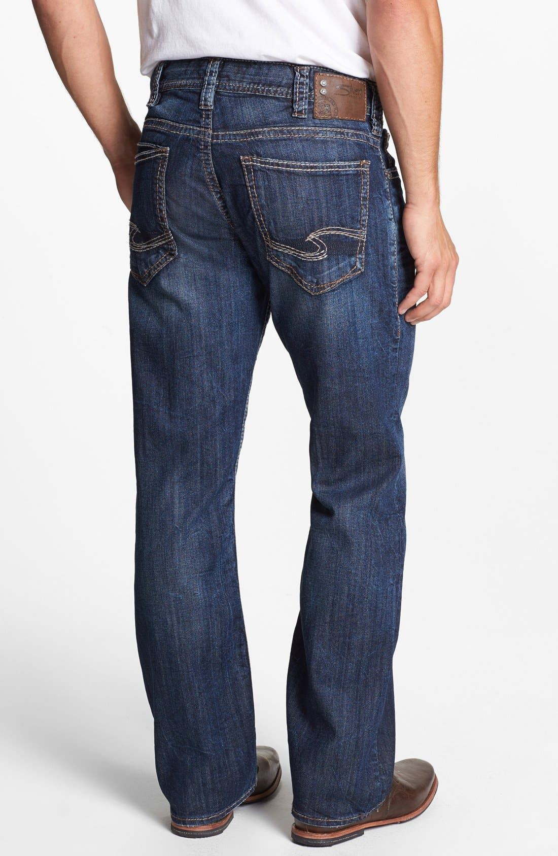 Alternate Image 1 Selected - Silver Jeans Co. 'Zac' Relaxed Jeans (Indigo)