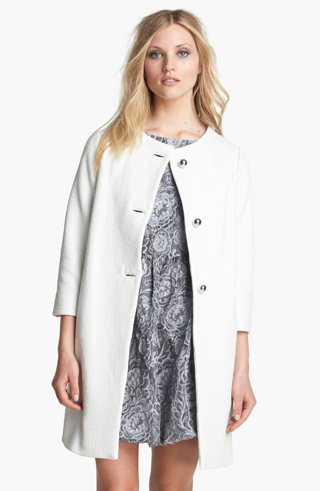 Alternate Image 1 Selected - kate spade new york 'erika' woven coat