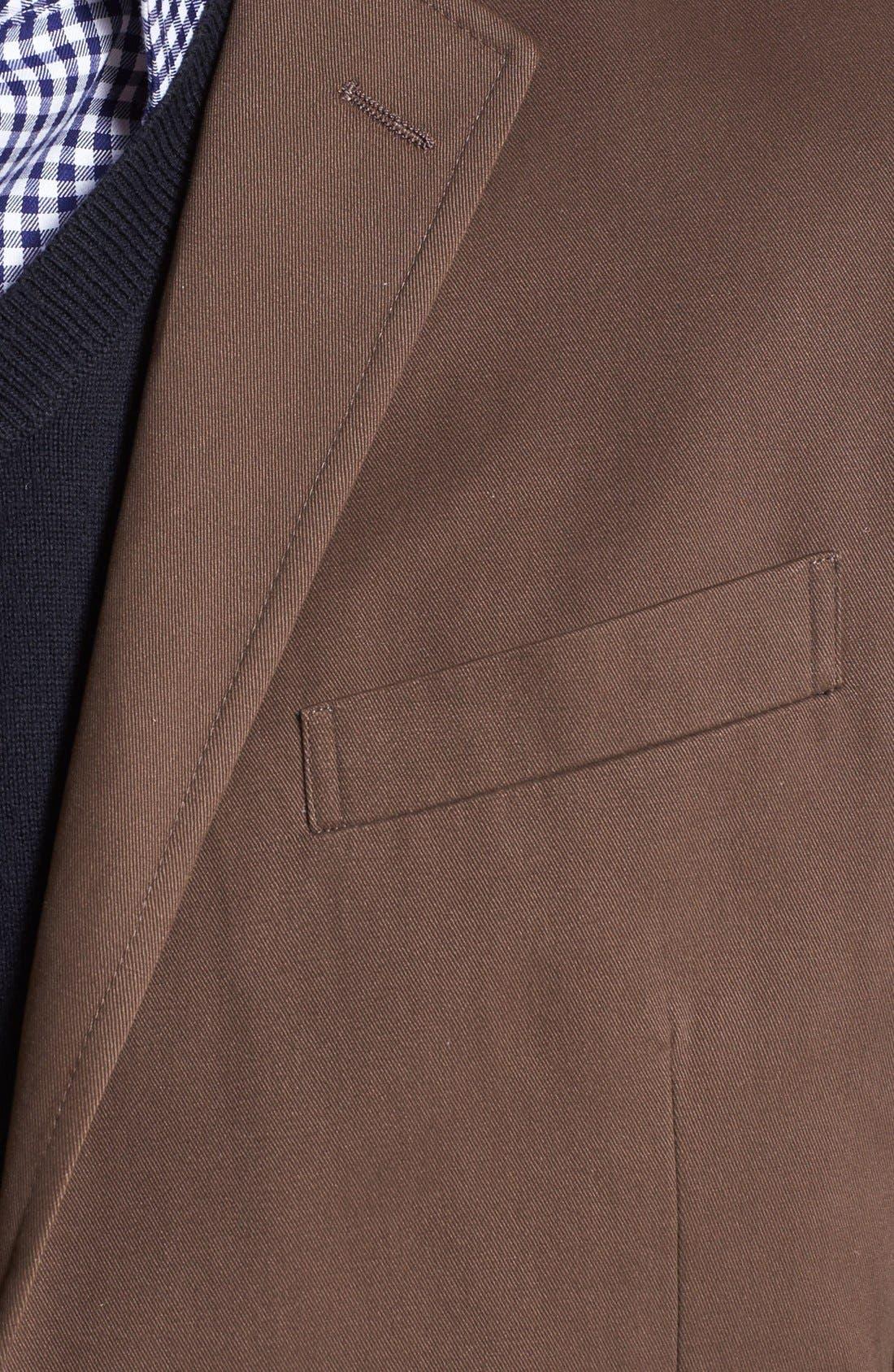 Alternate Image 2  - Wallin & Bros. Extra Trim Fit Cotton Twill Blazer