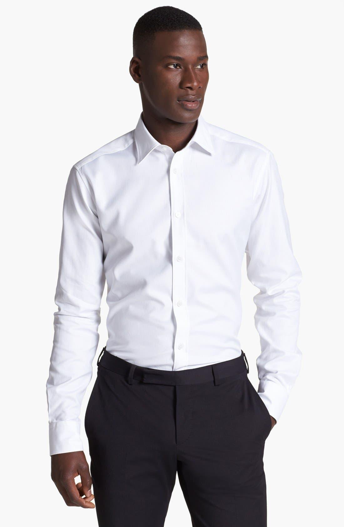 Alternate Image 1 Selected - Z Zegna Slim Fit Oxford Shirt
