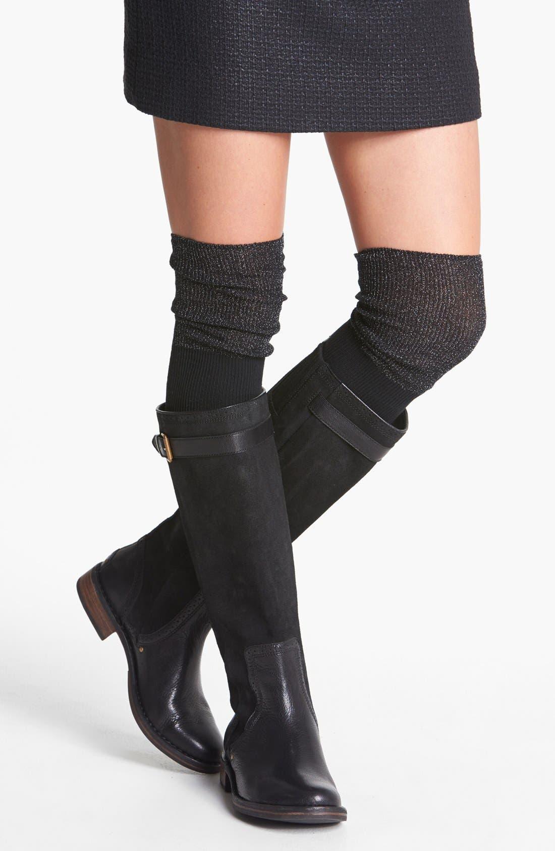 Alternate Image 1 Selected - kensie Metallic Over the Knee Socks