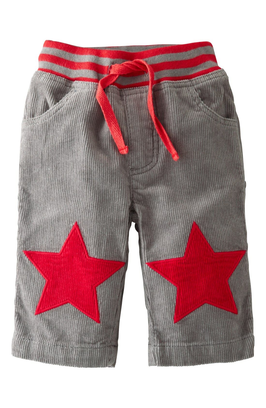Alternate Image 1 Selected - Mini Boden 'Star Patch' Pants (Baby Boys)