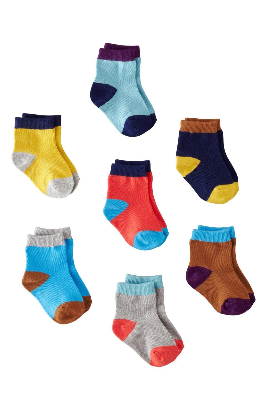 Alternate Image 1 Selected - Mini Boden Socks (7-Pack) (Baby)