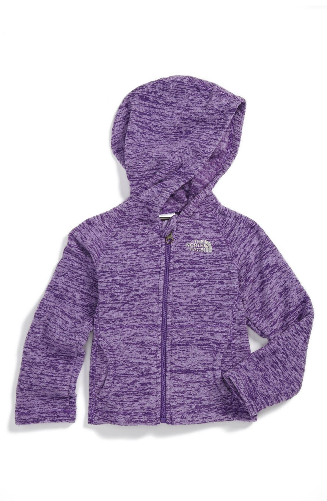 Alternate Image 1 Selected - The North Face 'Glacier' Fleece Hoodie (Toddler Girls)