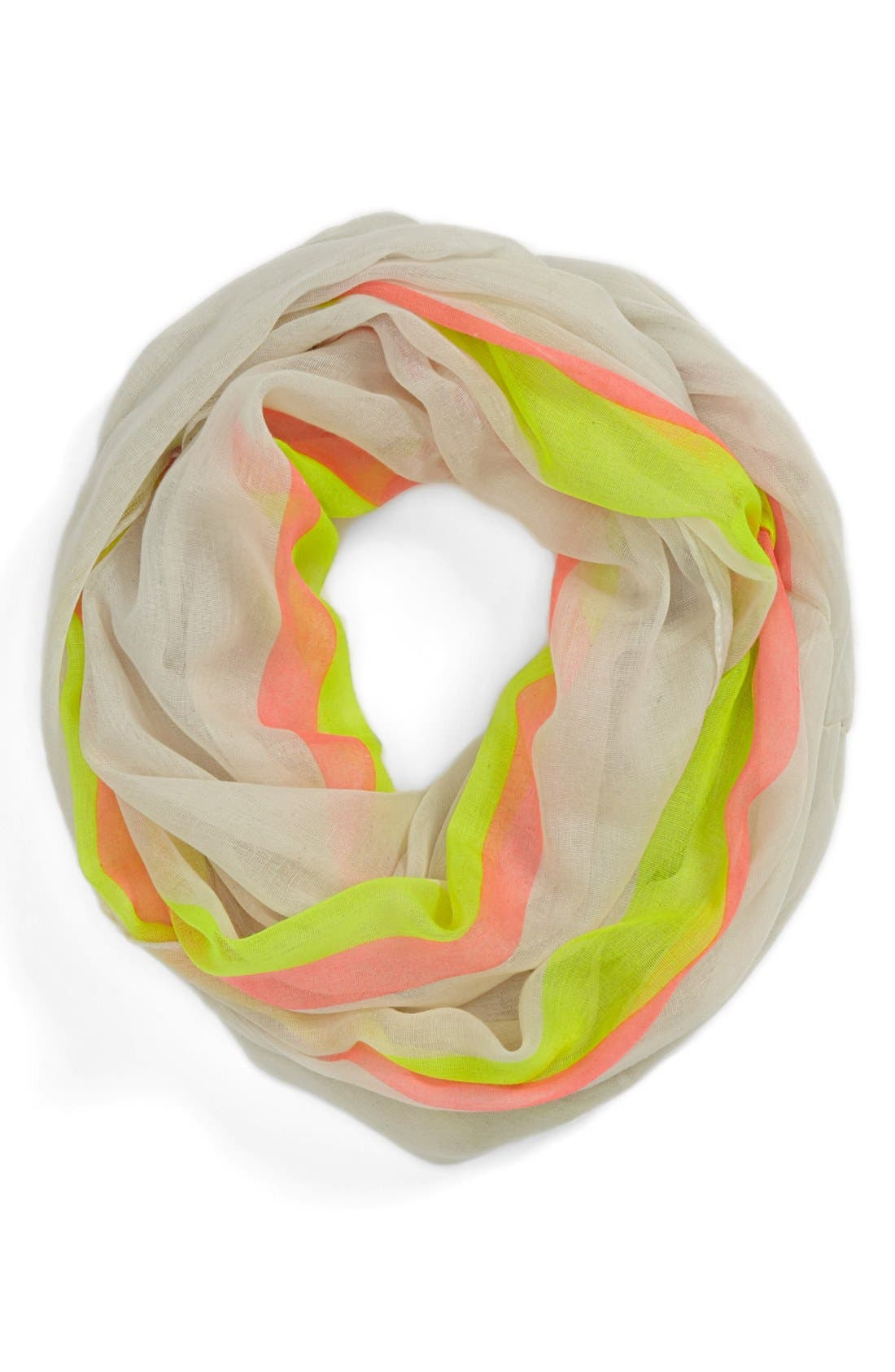 Alternate Image 1 Selected - David & Young Stripe Infinity Scarf (Juniors)