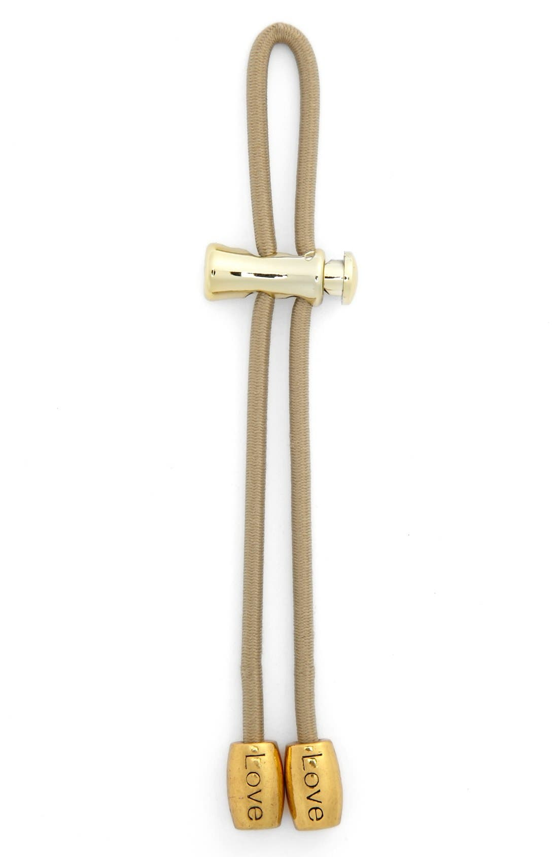 Alternate Image 1 Selected - Pulleez 'Love' Ponytail Holder