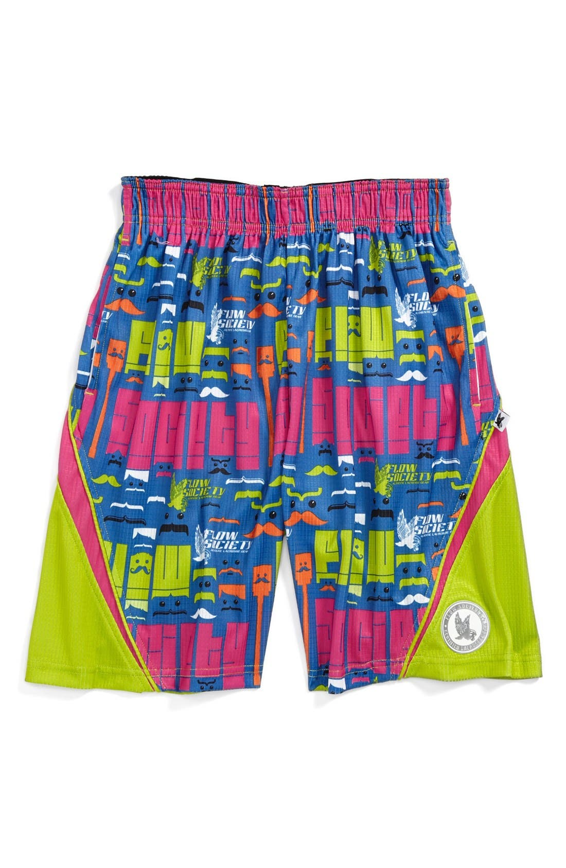 Main Image - Flow Society 'Moustache' Lacrosse Shorts (Little Boys & Big Boys)
