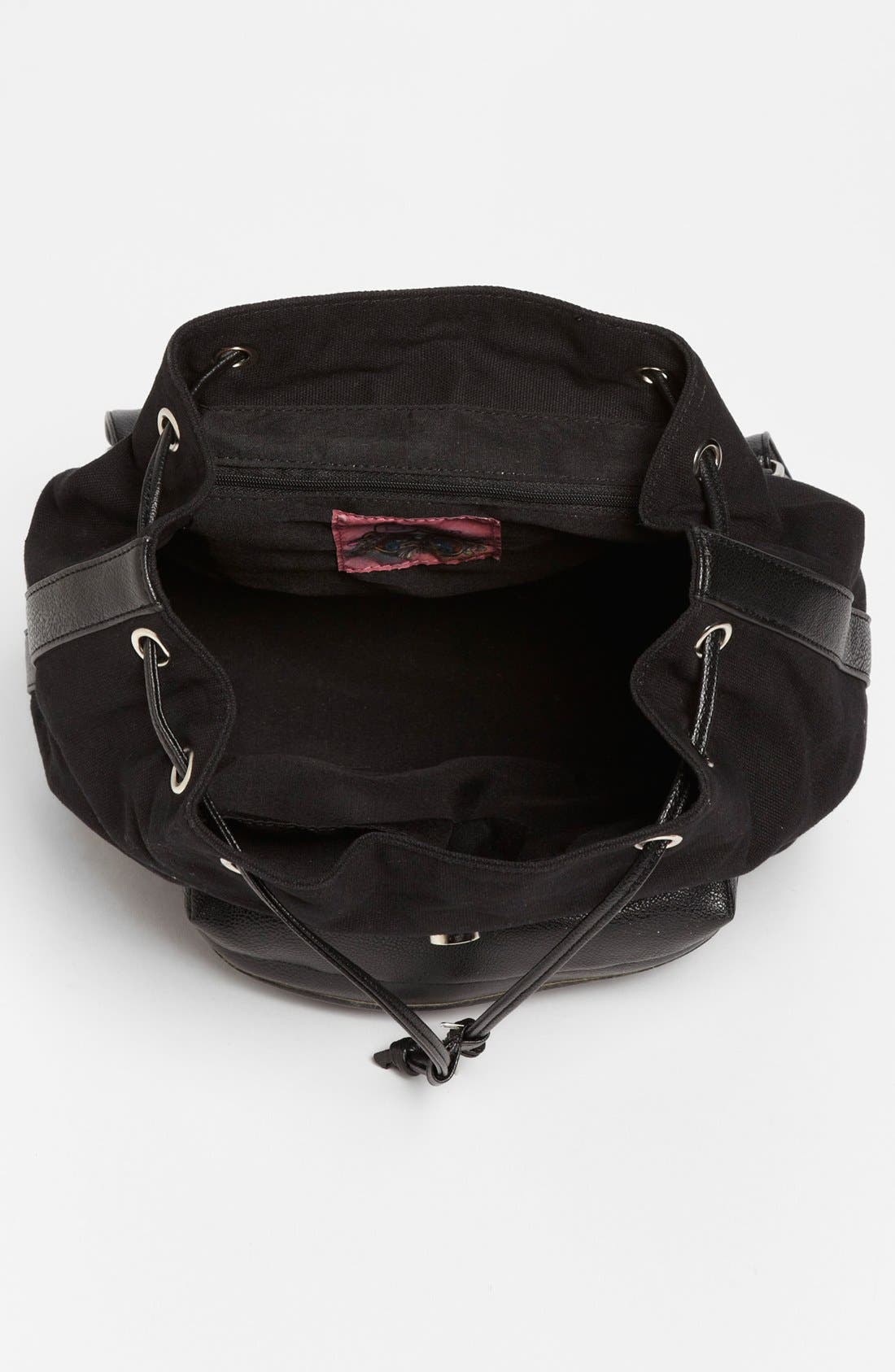 Alternate Image 3  - Collection B Faux Leather & Canvas Backpack (Juniors)