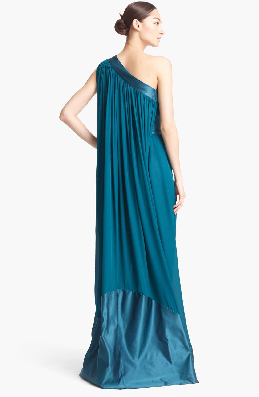 Alternate Image 2  - Naeem Khan One Shoulder Silk Gown