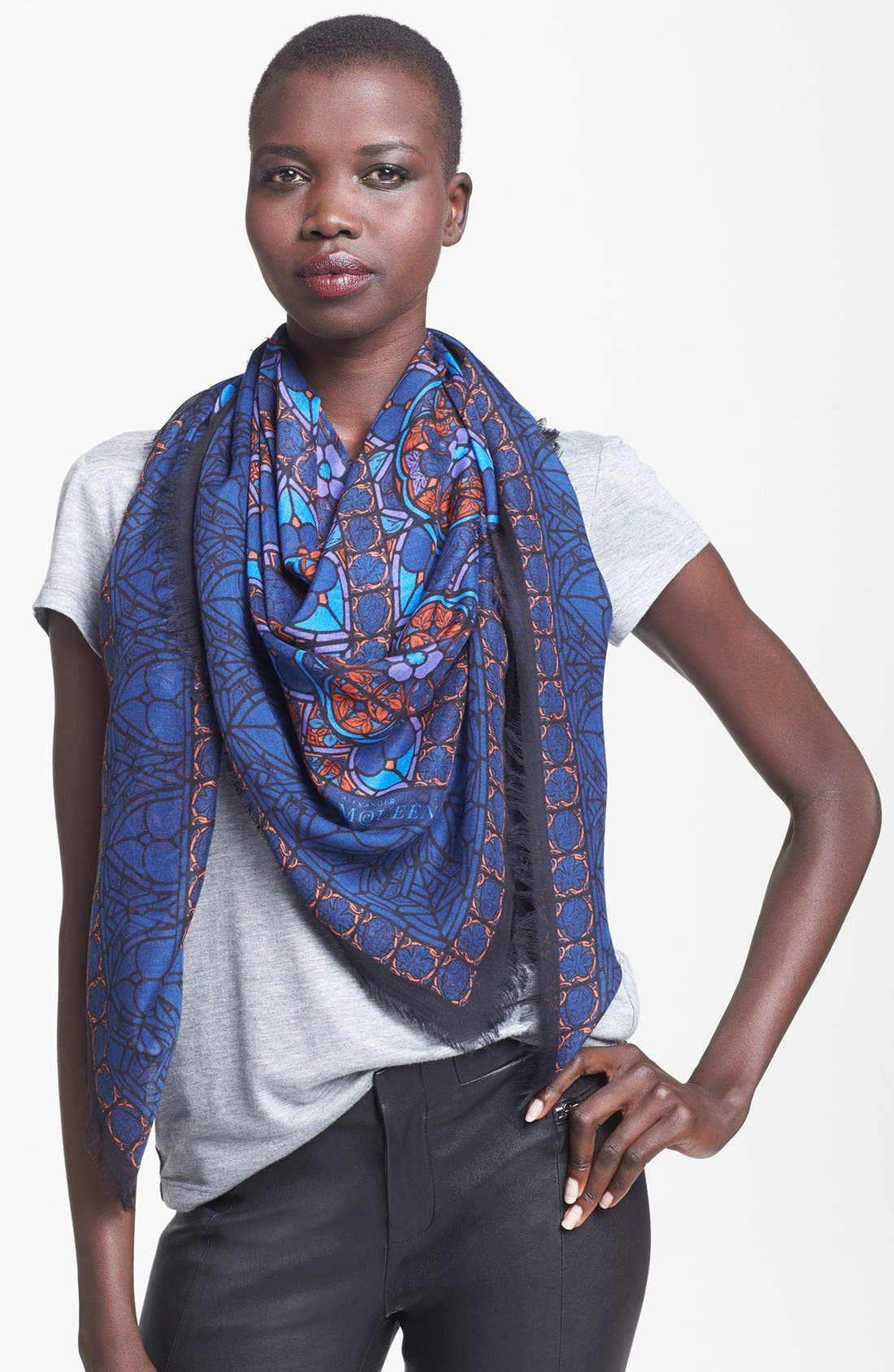 Main Image - Alexander McQueen 'Stained Glass' Scarf